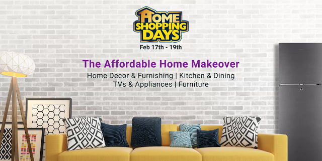 Flipkart home shopping days sale is back from feb 17 19 there will be offers on home decor furnishing kitchen dining products