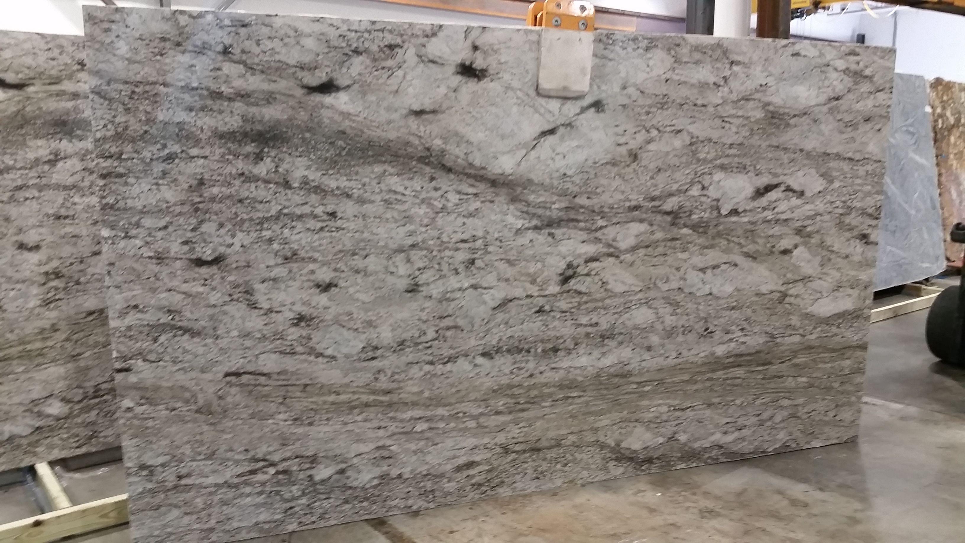 Our Granite Slab 2 Blue Dunes Granite Slab Granite Kitchen Remodel