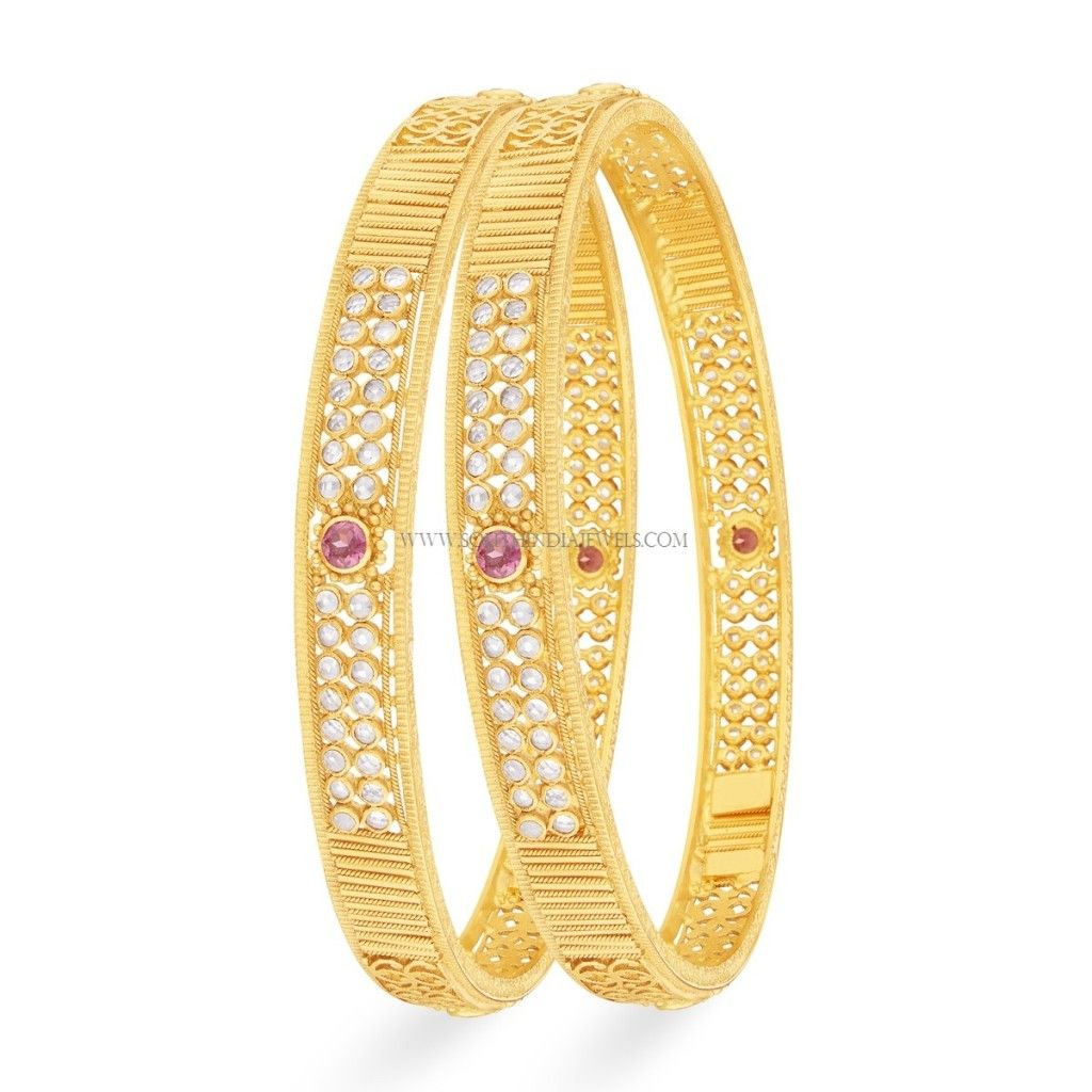Gold Bangle (Kangan) Designs with Price and Weight | Gold bangles ...