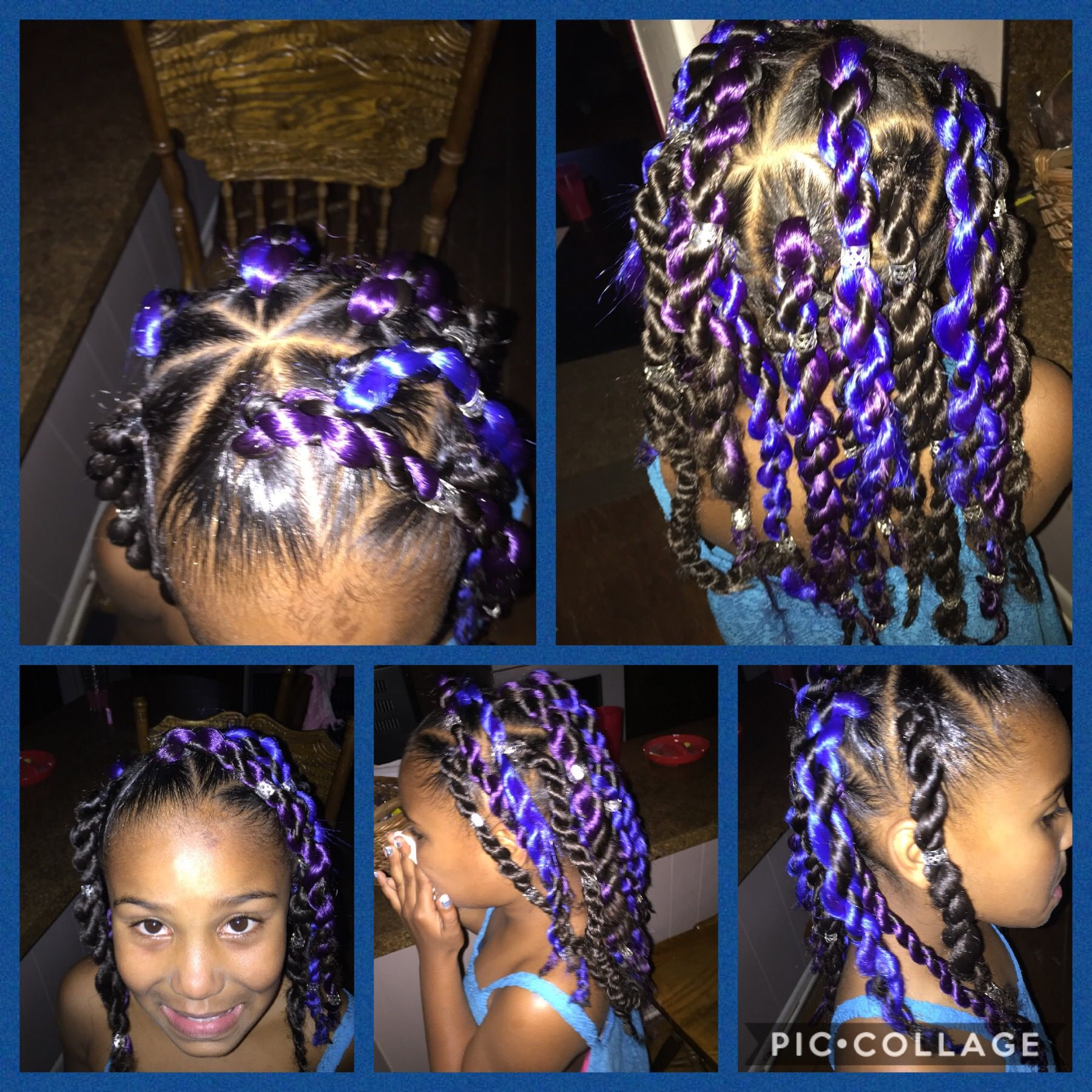 Rubber Band Method Senegalese Twists Kid Braid Styles Kids Hairstyles Rubber Band Hairstyles