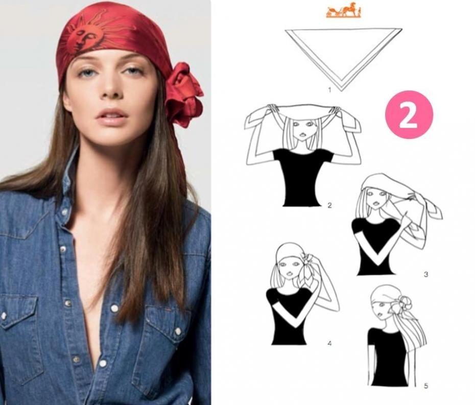 attacher le foulard de pirate sur les cheveux pour une. Black Bedroom Furniture Sets. Home Design Ideas