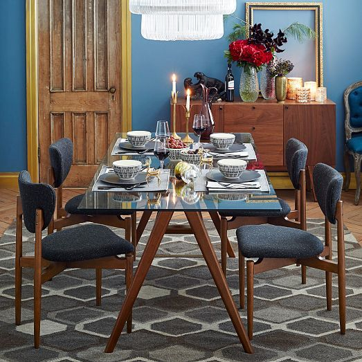 Jensen Dining Table Dining Table Glass Top Dining Table Glass