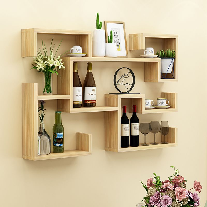 Floating Wine Racks For Kitchen In 2020 Unique Wall Shelves Wall Shelf Decor Home Room Design