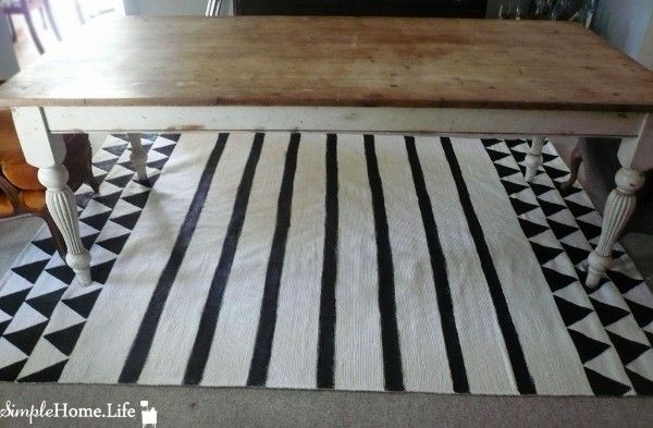 Painted Rug 2: Tutorial — Simple Home Life