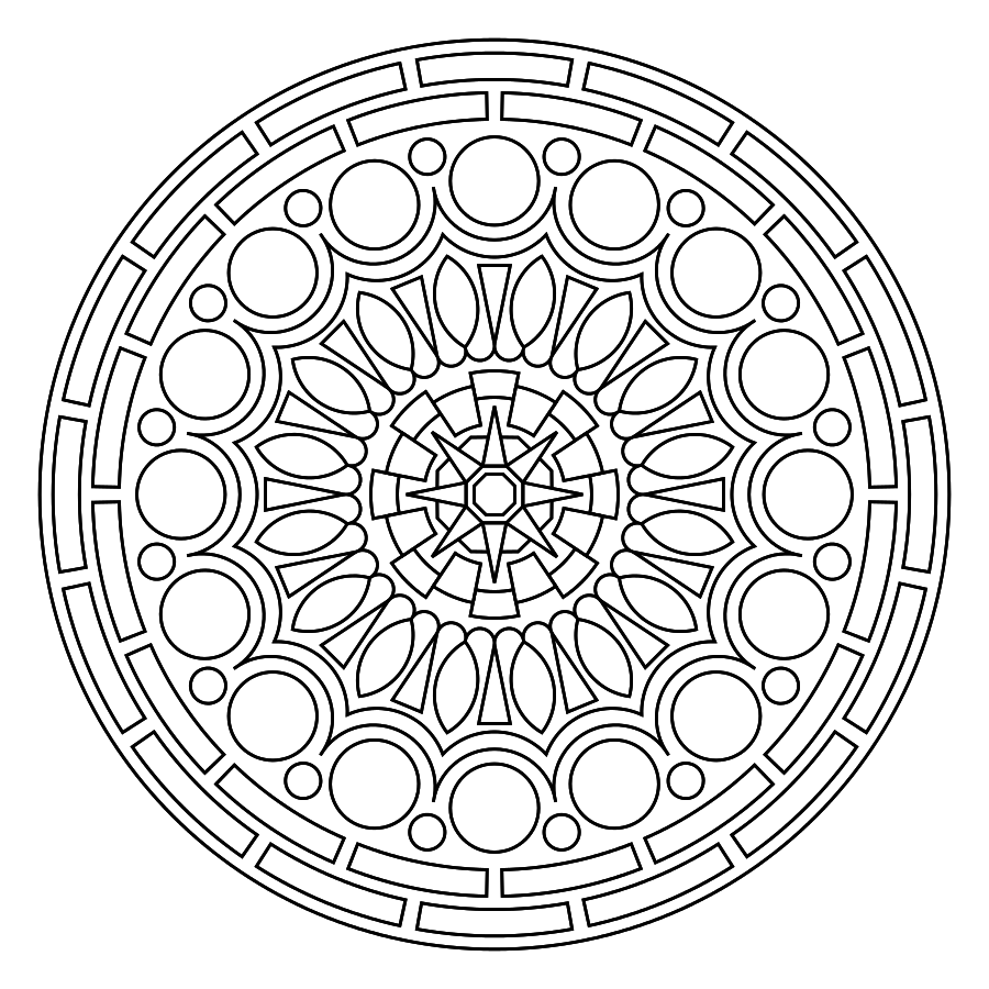 Jewish mandala coloring pages - Coloring Mandalas Is A Very Popular Technique For Meditation Healing And Having Fun But It Is Also Possible To Color Mandalas In Crochet Using Yarn