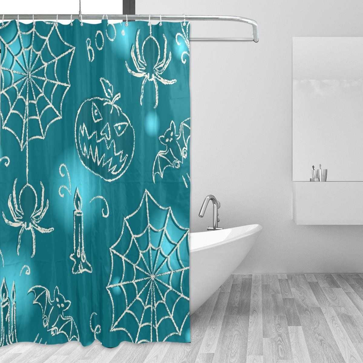 Giovanior Halloween Spider Bat Candle Fabric Resistant Waterproof