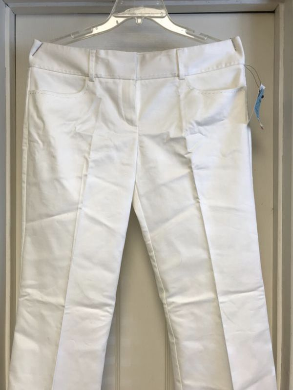 NEW! Women's TAHARI White Slacks Pants Size 10 #whiteslacks NEW! Women's TAHARI White Slacks Pants Size 10 #whiteslacks NEW! Women's TAHARI White Slacks Pants Size 10 #whiteslacks NEW! Women's TAHARI White Slacks Pants Size 10 #whiteslacks