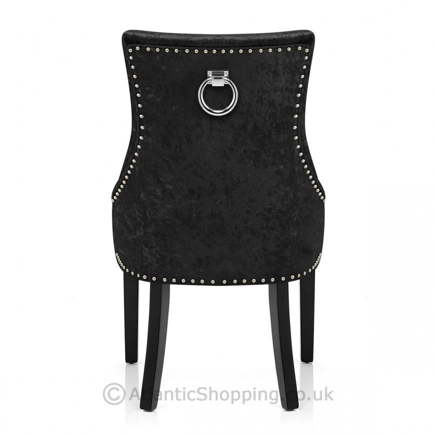 Ascot Dining Chair Black Velvet - Atlantic Shopping