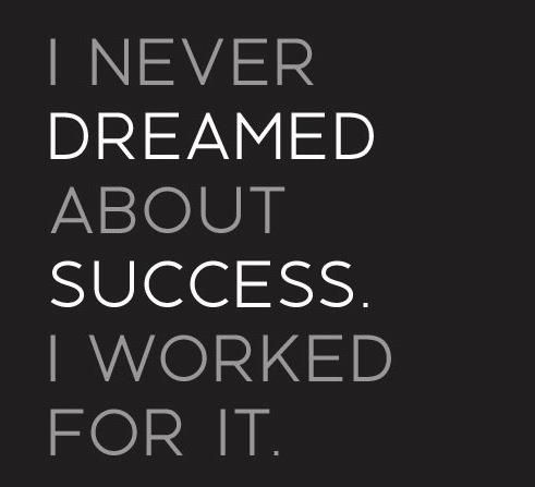 I Never Dreamed About Success I Worked For It Quotes Motivation