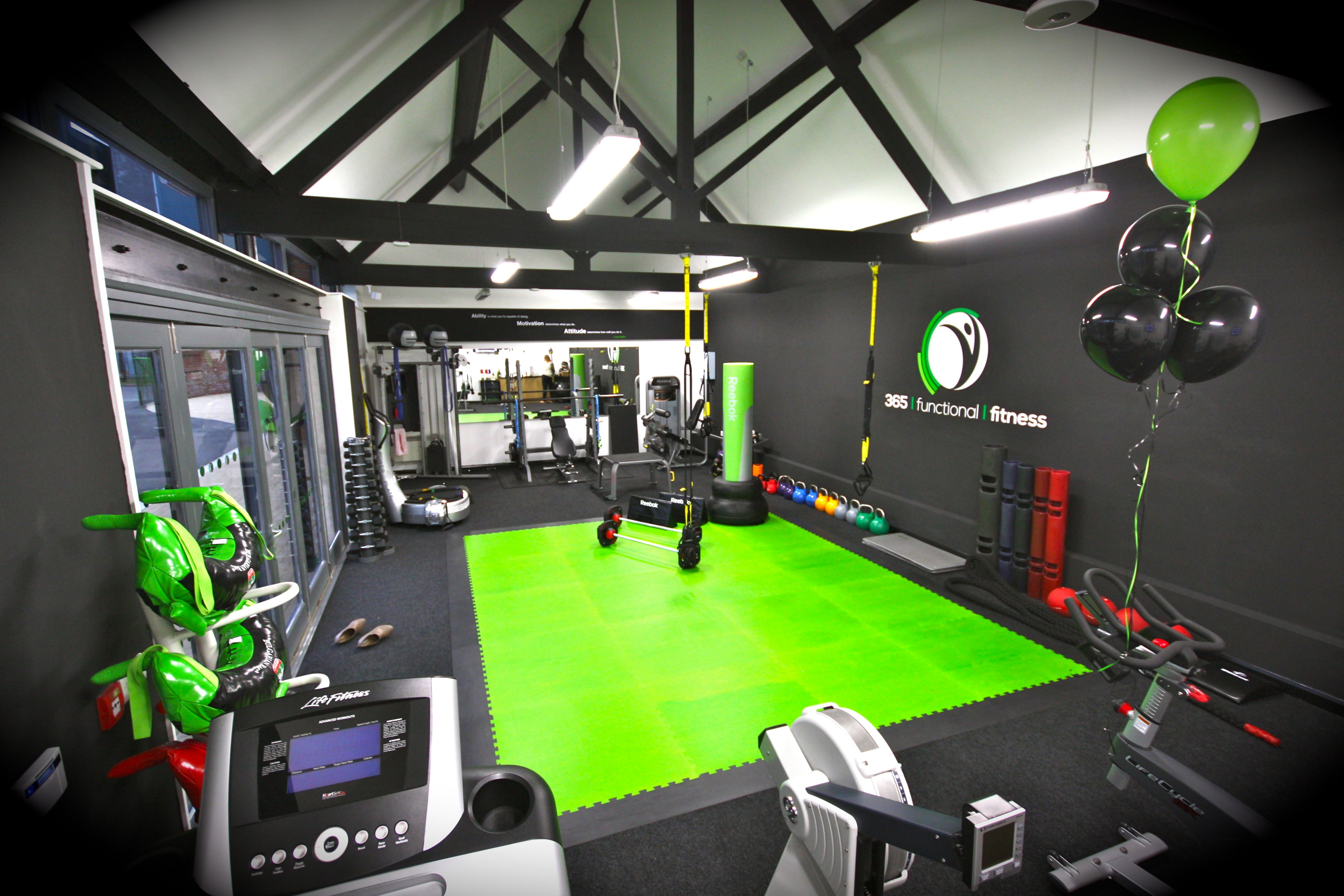 Modern fitness design gym studio personal training