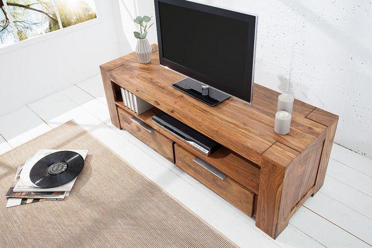 Massives Design TV Lowboard Sheesham | Riess
