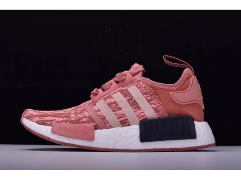 Women S Adidas Nmd R1 Primeknit Pink Black Raw Pink Trace Pink Legend Ink By9648