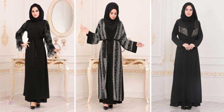 عبايات سوداء تركية مطرزة شيك للخروج والعمل In 2020 Fashion Dresses Nun Dress