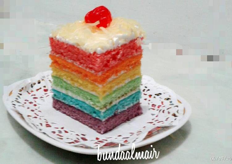 Resep Rainbow Cake Panggang Ny Liem Oleh Mindy Aulia Resep Kue Pelangi Kue Bolu Kue Lapis