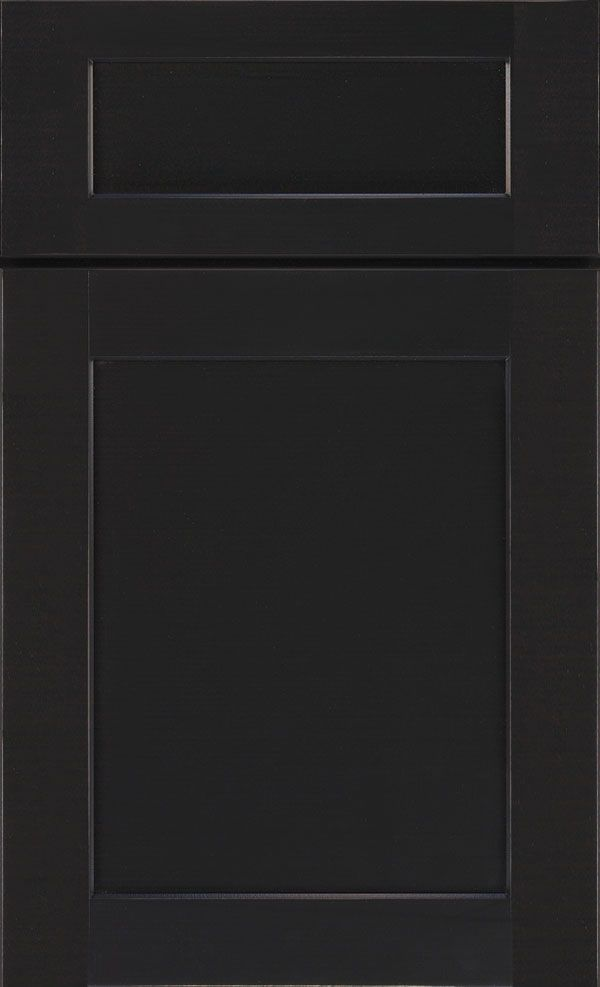 Kitchen Lower Master Bathroom Black Painted Shaker Cabinets