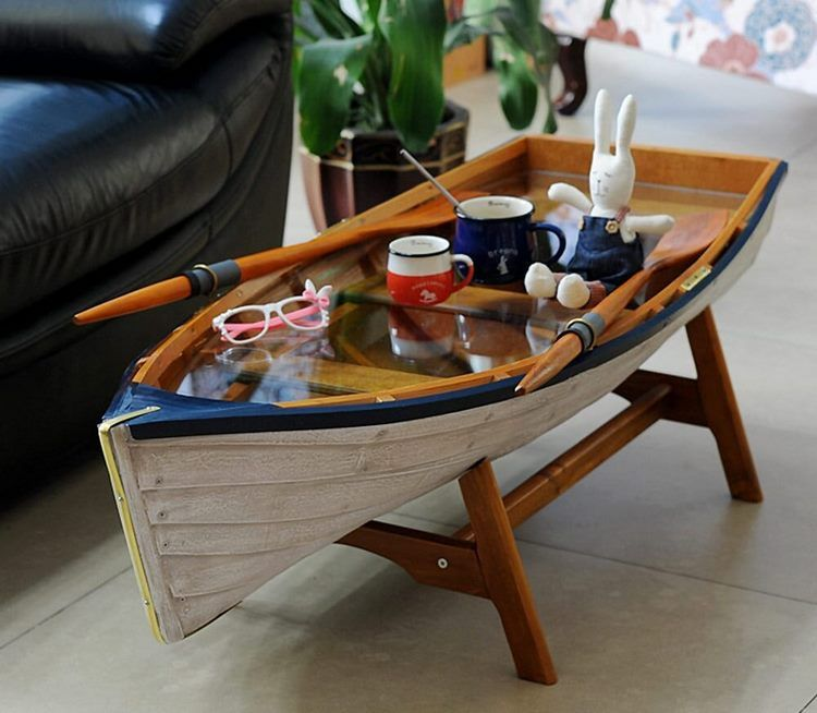 Boat Coffee Table Original And Eye Catching Furniture Piece For