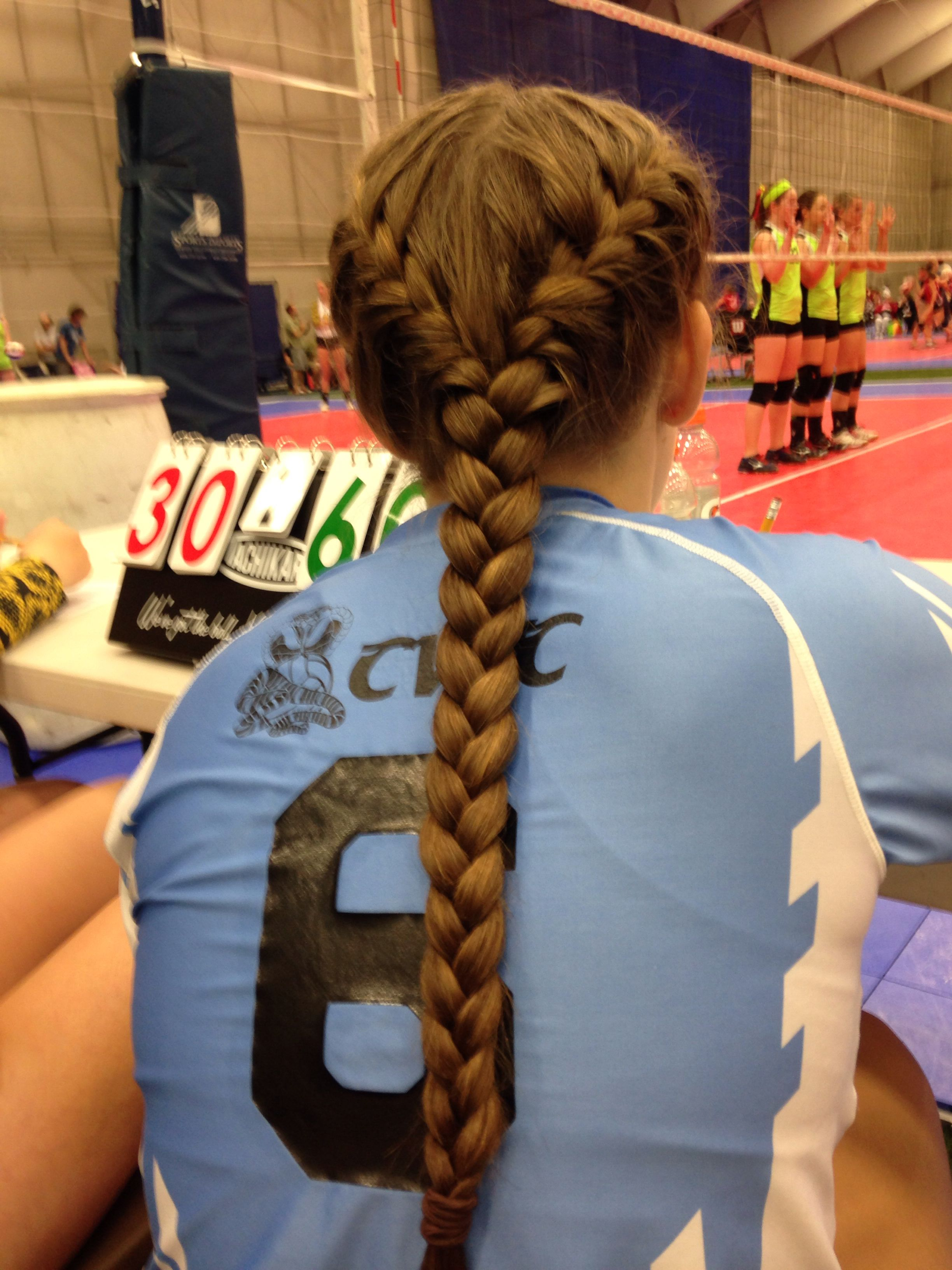 Volleyball hair hair pinterest hair volleyball hairstyles and
