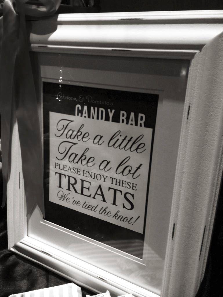 Modern Wedding Candy Bar Sign   Pinterest   Wedding candy, Bar and ...