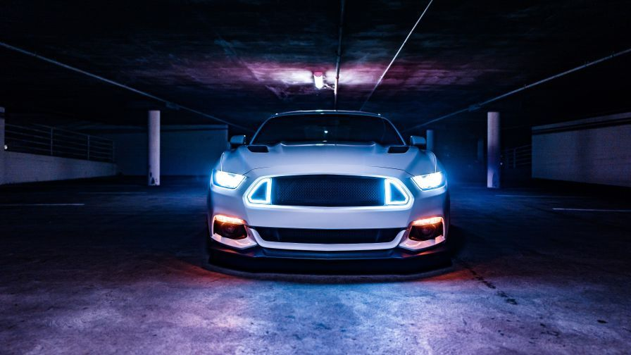 Ford Mustang Neon Lights 5k Wallpaper With Images Car