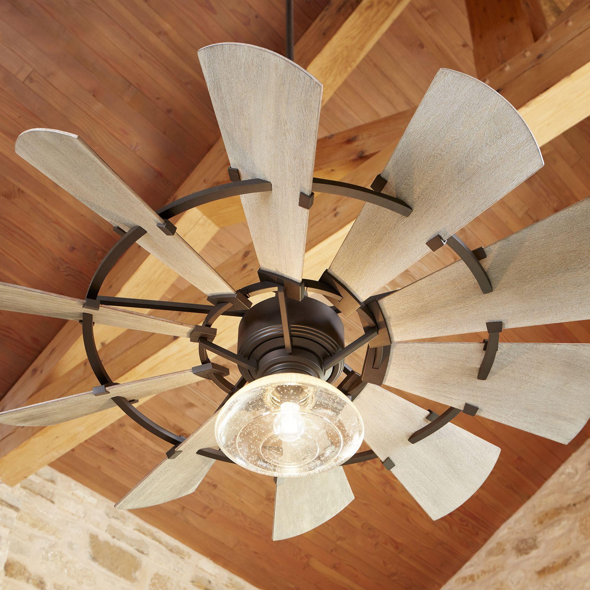Quorum Windmill 52 Indoor Outdoor Ceiling Fan In Oiled Bronze