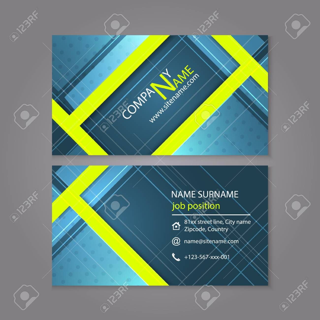 Professional Business Card Template Design Or Visiting Card Set For Profession Professional Business Cards Templates Professional Business Cards Visiting Cards