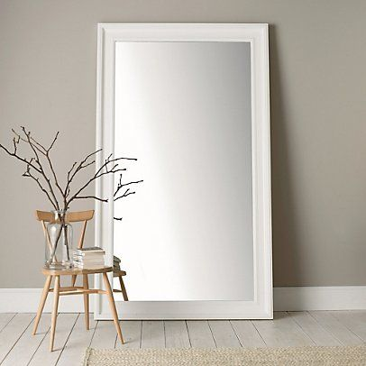 Portland Wide Full Length Mirror White From The White Company Wall Mirror Decor Living Room Cute Room Decor Mirror Decor