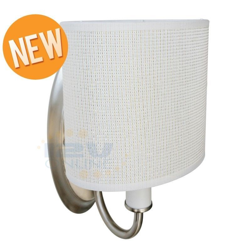 Rv Interior Led Wall Sconce Light Fixtures White Fabric Shade With Switch Warm W Ebay Fabric Shades Sconce Light Fixtures White Light Fixture