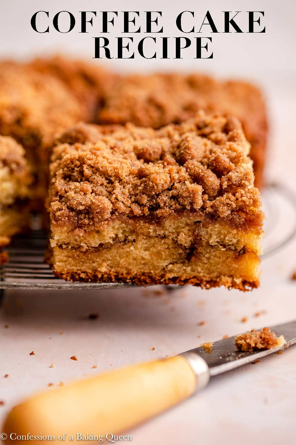 Sour Cream Coffee Cake Recipe In 2020 Coffee Cake Recipes Sour Cream Coffee Cake Coffee Cake