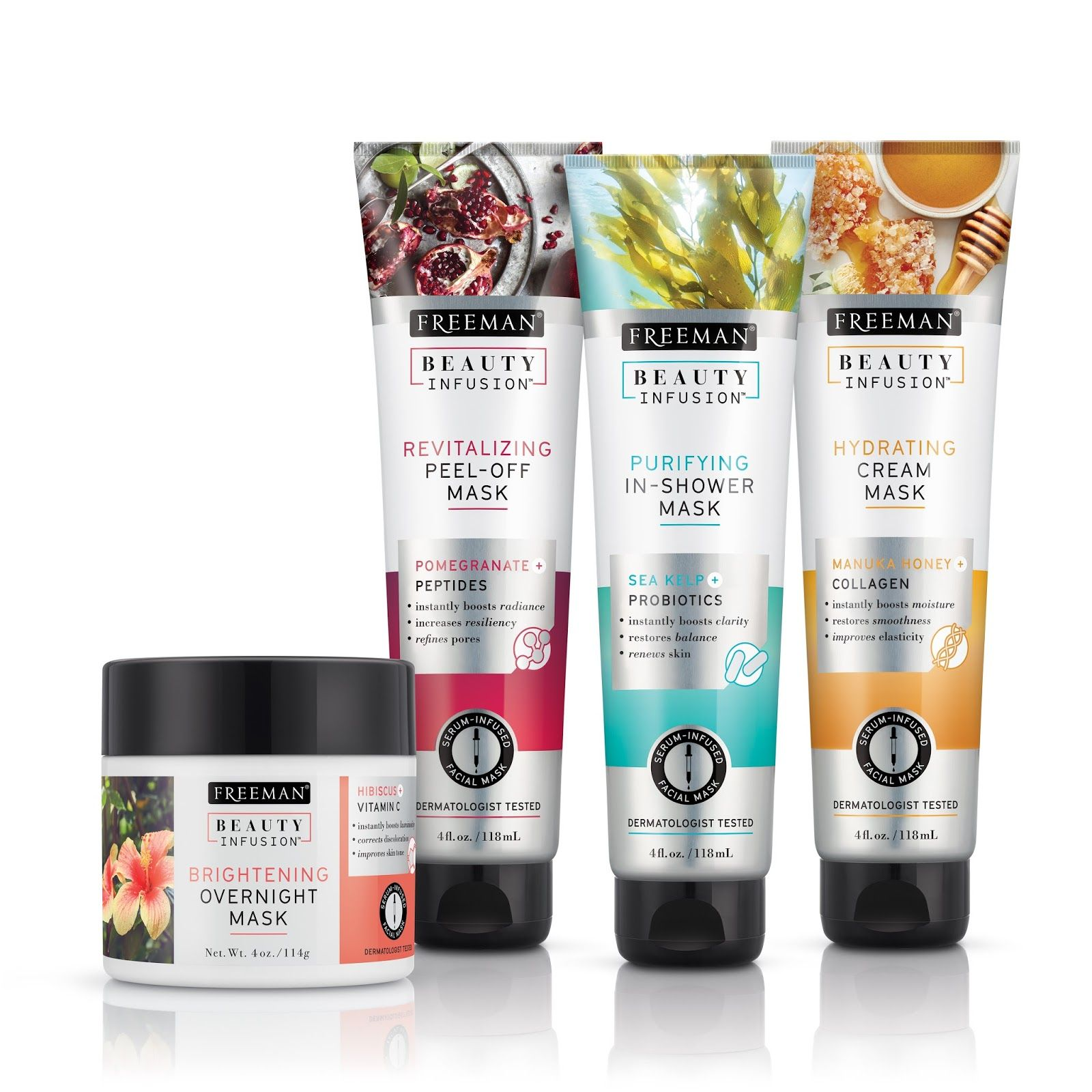 Freeman Beauty Infusion Skincare packaging, Cosmetic