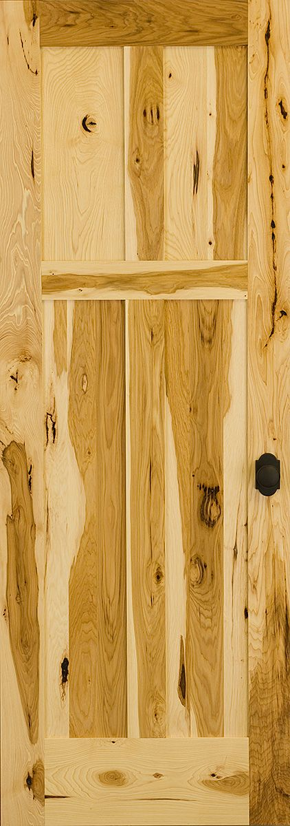 This Rustic Hickory Door Features Intense Color Variation Combined With  Knots, Mineral Streaks, And