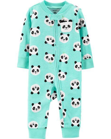 bea465320eba Panda Zip-Up Footless Sleep   Play