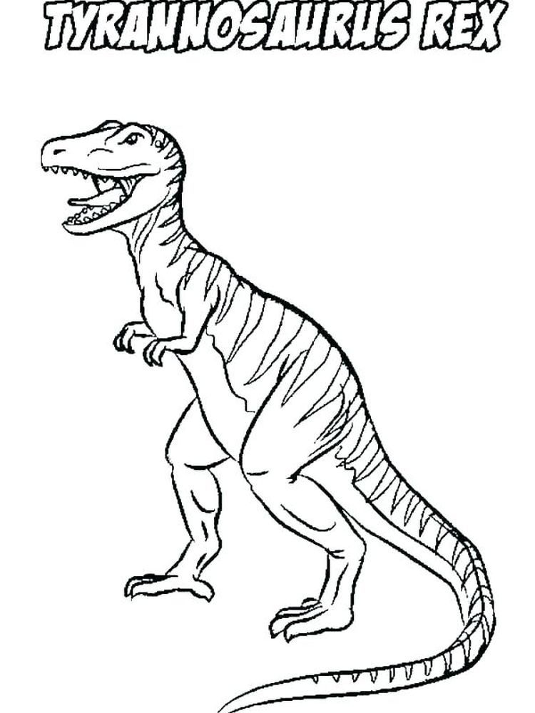 Coloring Pages For T Rex. T-Rex is indeed a very iconic prehistoric creature. This dinosaur is known for its extraordinary cruelty and the craziest ability to kill any dinosaur... #coloring #coloringpages #printables #coloriage #prehistoriccreatures