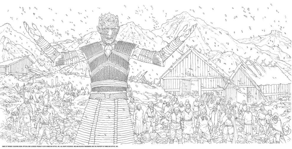 Give The Night King And His New Undead Minions From Hardhome Some Terrifying Blue Eyes Coloring Books Coloring Book Art Hbo Game Of Thrones