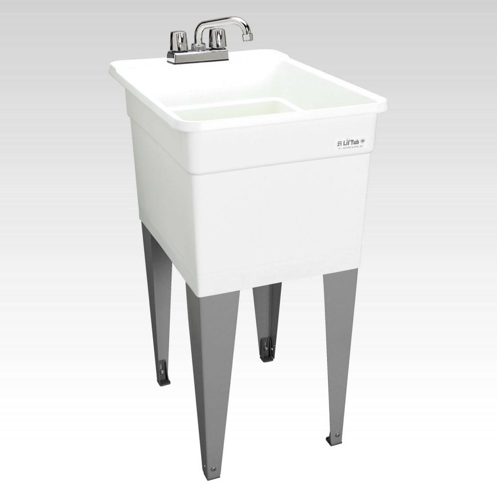 Mustee Lil Tub Utilatub 21f Single Basin Floor Mount Utility Sink