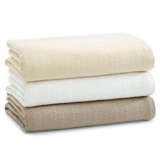 Natori Cotton Blankets 100 Soft Spun Cotton Ladies