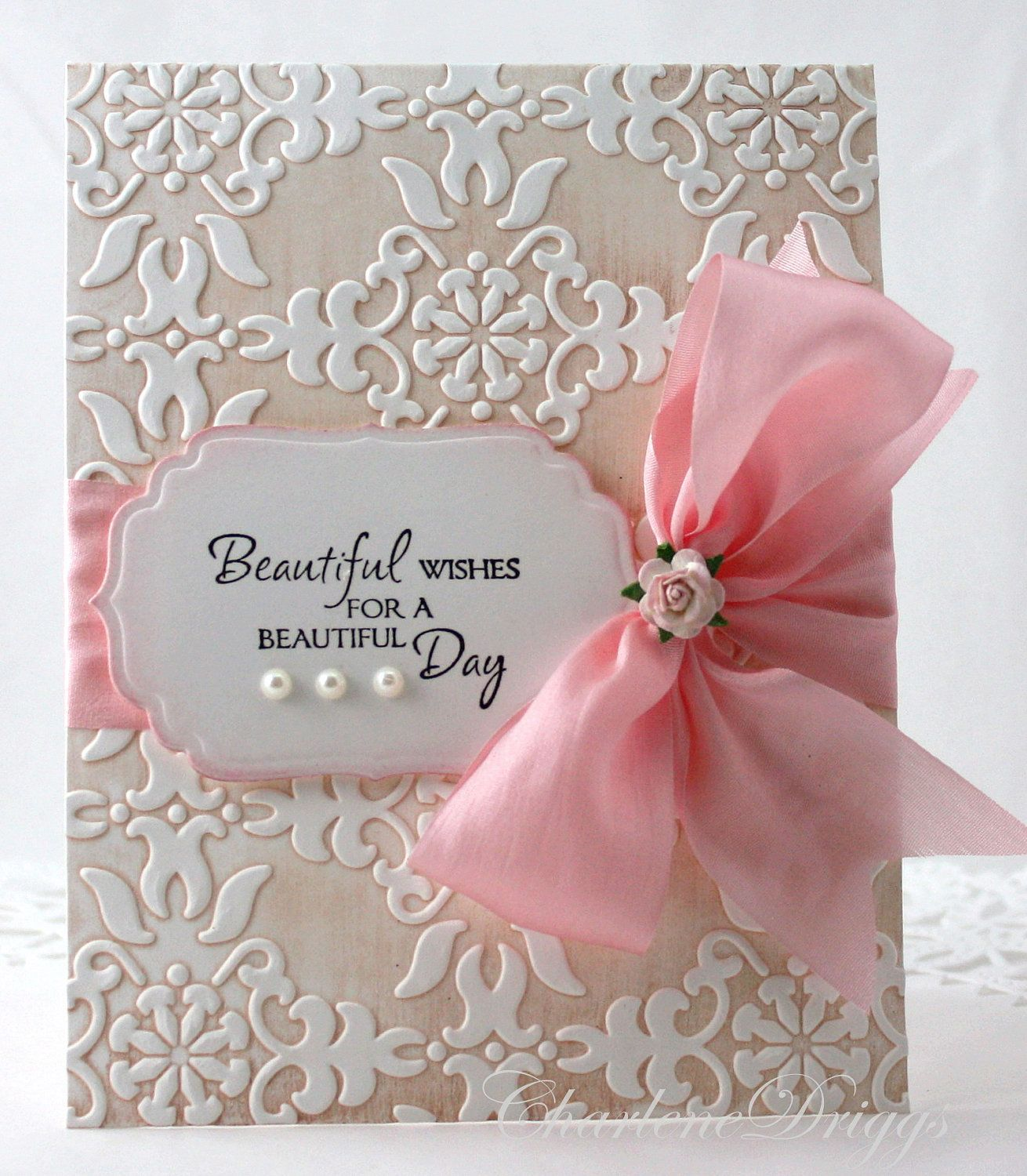 Embossed Handmade Wedding Mother 39 S Day Birthday Card