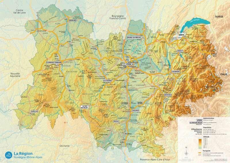 Cartes Auvergne Rhone Alpes Auvergne Rhones Alpes Rhone