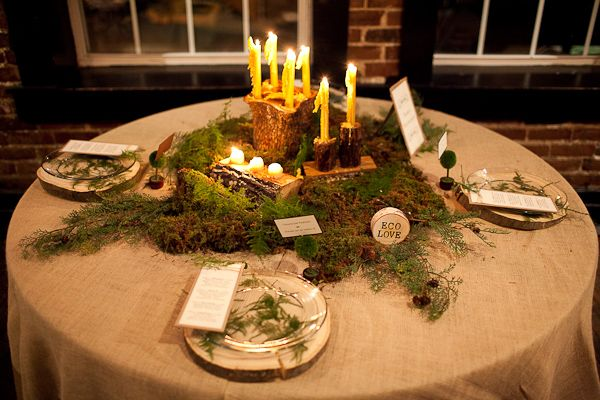 Attractive Outdoor Reception Pavilion Setup Moss And Burlap Eco Love Wedding Table  Burlap