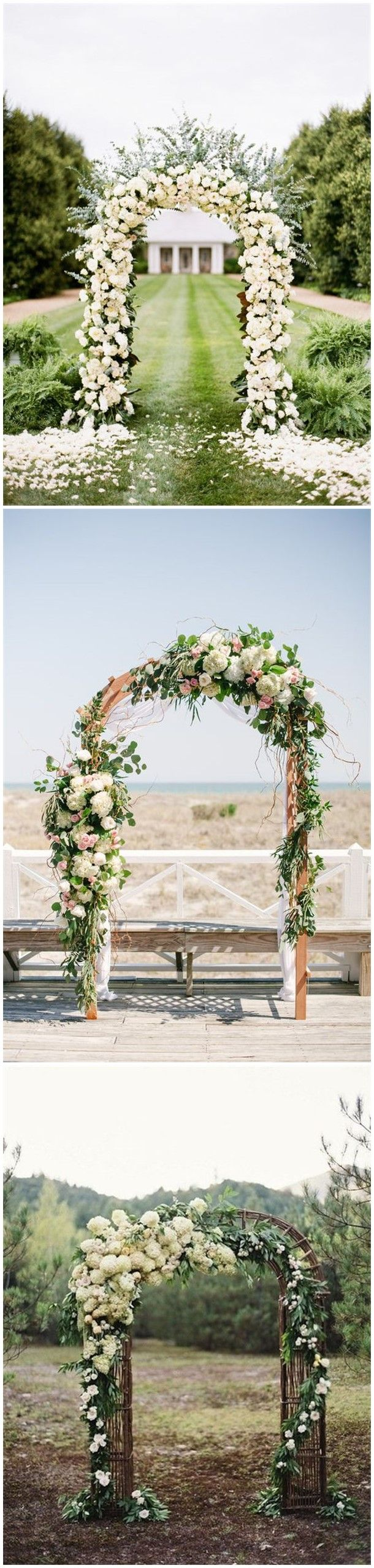 Wedding gate decoration ideas  Rustic Weddings   DIY Floral Wedding Arch Decoration Ideas