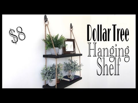 Dollar Tree Diy Hanging Rope Shelf Youtube Dollar Tree Diy