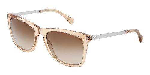 Dolce & Gabbana  Eyewear: modelo DD 3081 - Colección de gafas de sol de mujer. Montura cuadrada de color naranja transparente con lentes marrones.