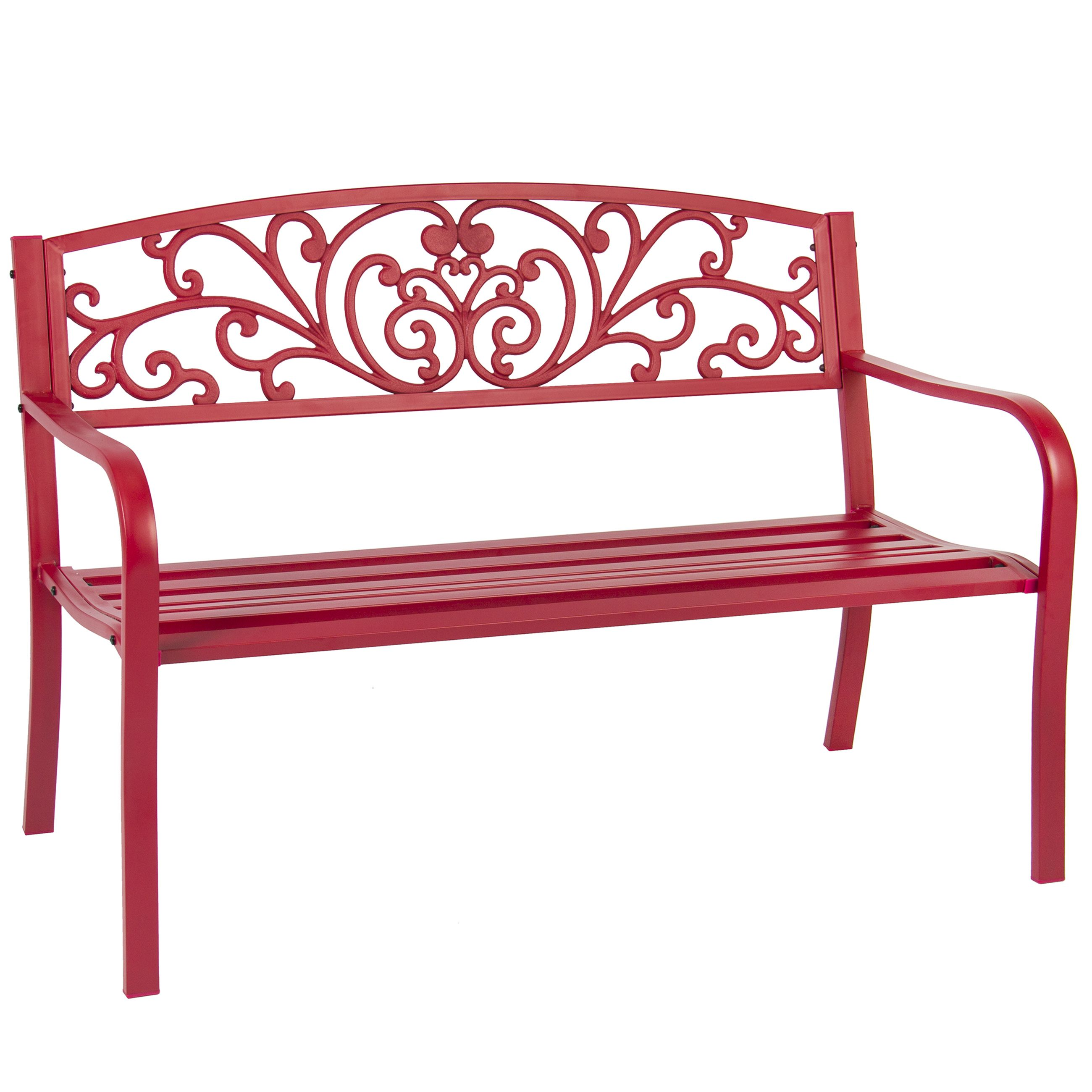 "BCP 50"" Patio Garden Bench Park Yard Outdoor Furniture Steel Frame"