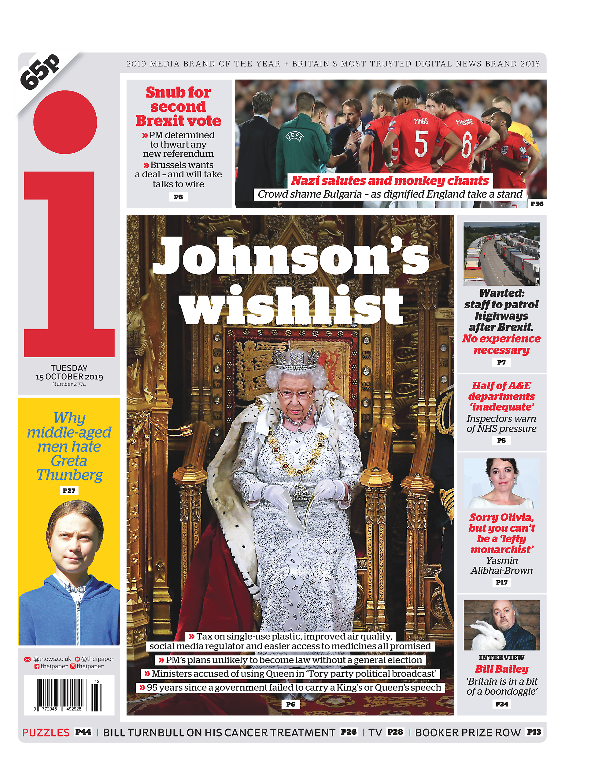Tuesday's national newspaper front pages Newspaper front