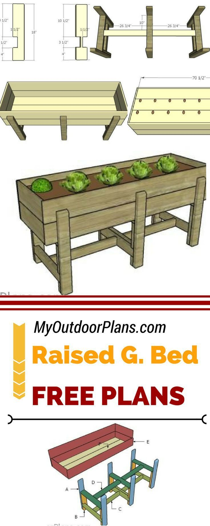 Waist High Raised Garden Bed Plans (With images) | High ...