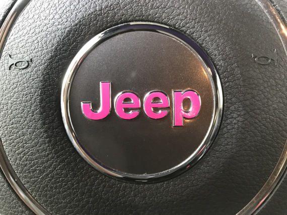 Oem Steering Wheel Emblem Decal Jeep Pink Jeep Accessories