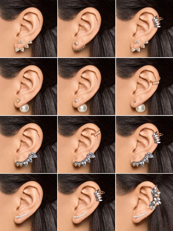 so many earring combinations, so little time. | wear ...