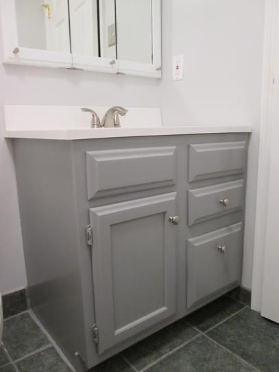 Rust Oleum Transformations 1 Qt Gray Cabinet Small Kit 302137 The Home Depot Grey Cabinets Rustoleum Cabinet Transformation Colors Diy Bathroom Makeover
