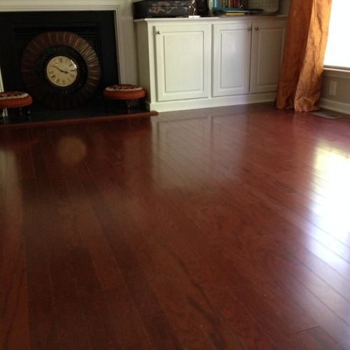 Cherry Wood Floor Living Design Ideas Remodels Photos Houzz