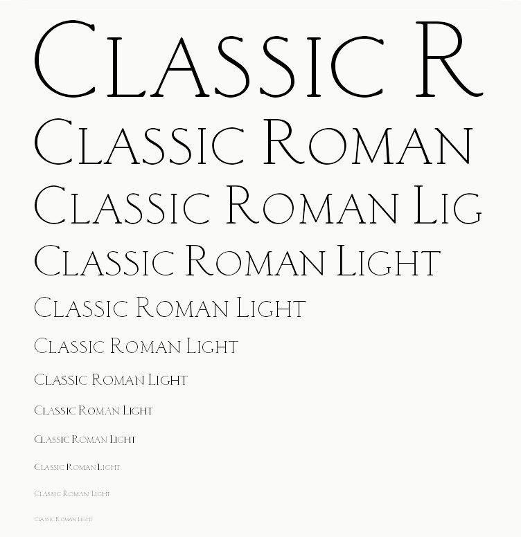 Classic Roman Light   Fonts and Graphics   Light font, Roman