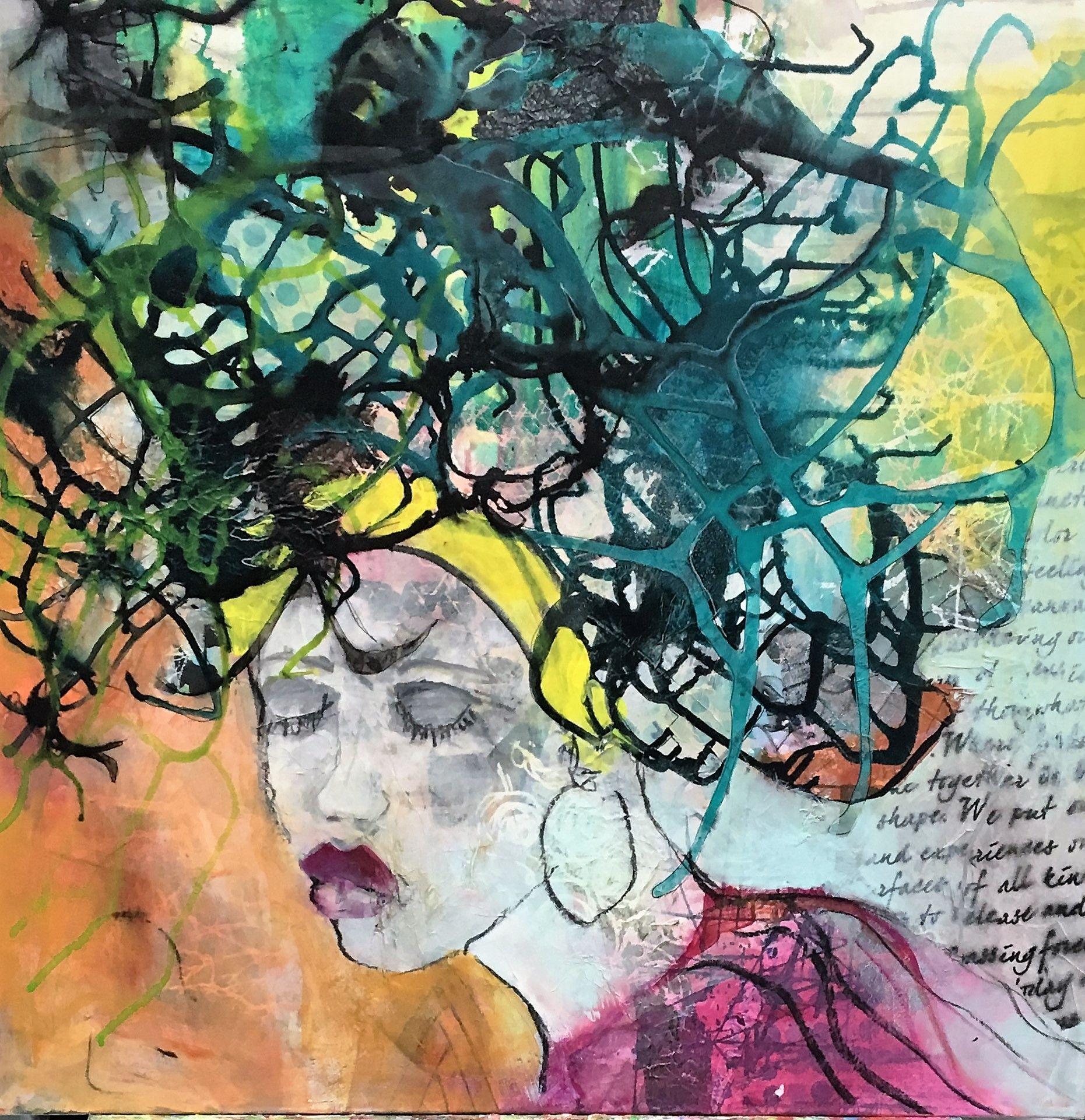 Art for saleAkryl maleri str 70x70 Malet af kunstner Annemette Hoier Nielsen http://www.ahn-univers.dk/2172104